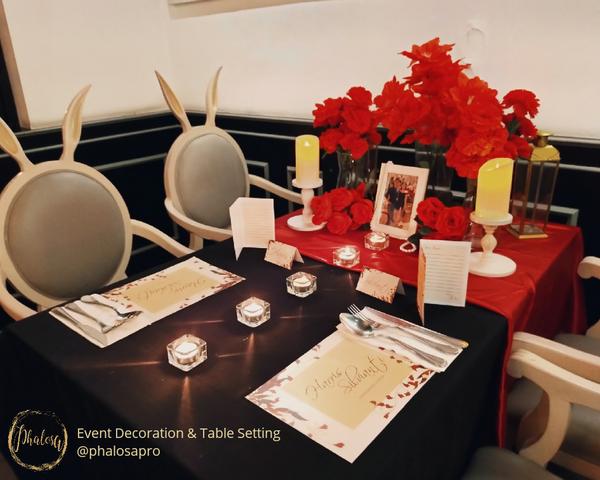 Couple Table Setting