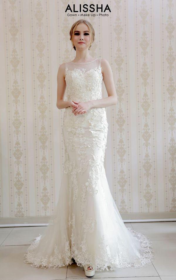 """Wedding Gown Gaun Dress grade """"Gold"""""""