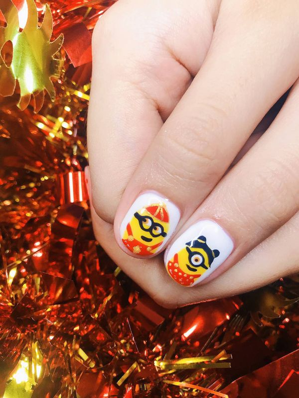 Hand Painted Nail Art by Angelicia Guo