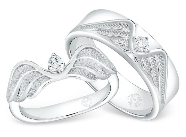 DP TEX SAVERIO WIND COLLECTION DIAMOND WEDDING RING (GROOM'S RING)