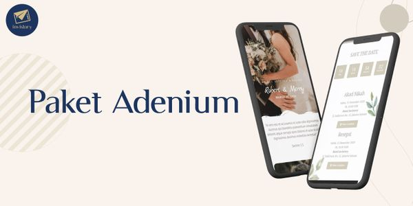 Paket Adenium - Undangan Digital Website (E-Invitation)