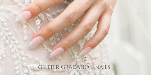 Wedding Nails (Glitter Gradation Nails)