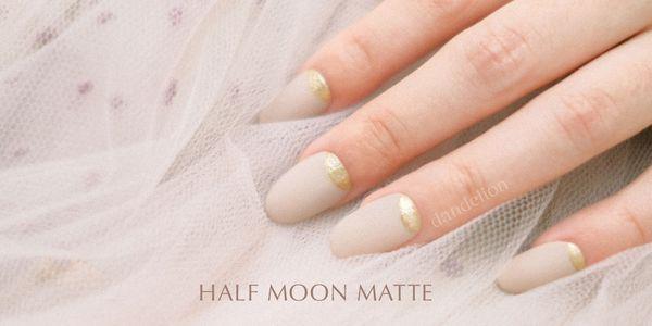 Wedding Nails (Half Moon Matte)