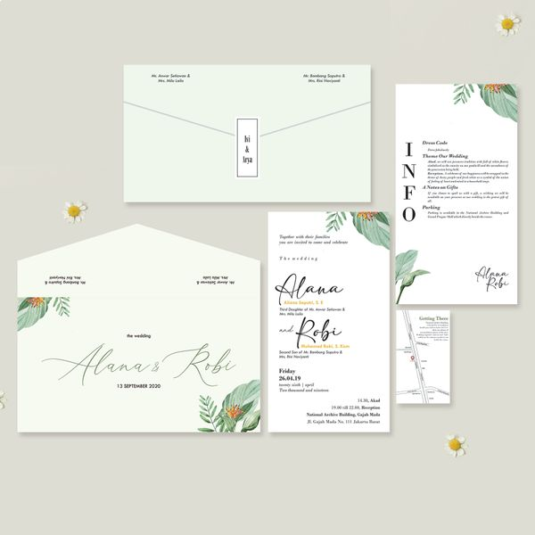 Rustic Theme Wedding Invitation