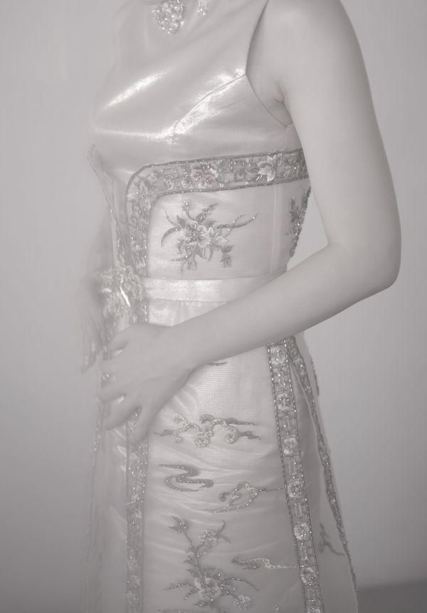 Custom Rent Modern Cheongsam Gown