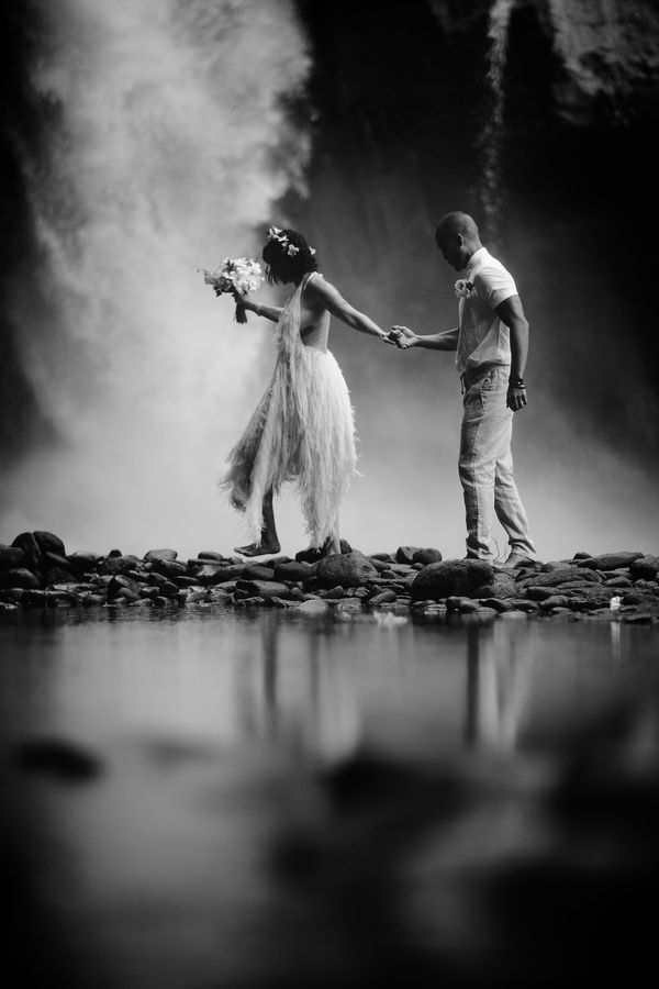 ELOPEMENT BY THE WATERFALL