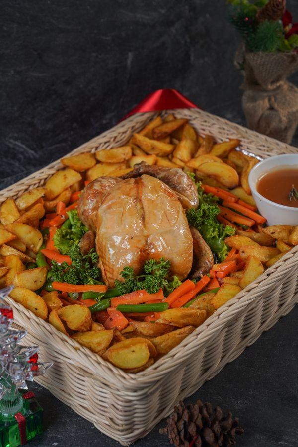 Roast Chicken with Rosemary Sauce