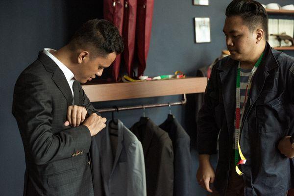 Suits (Jacket & Trouser) Sebastiano Veronese Fabric