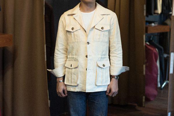 Safari Jacket Linen Fabric (Spence & Bryson)