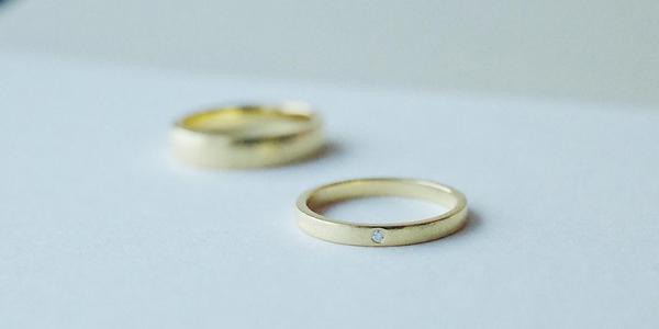 Flat Band Pairs Gold & Palladium Rings