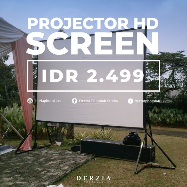 Rental Projector Infocus + Screen