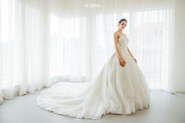 "Wedding Gown Gaun Dress grade ""Diamond"""