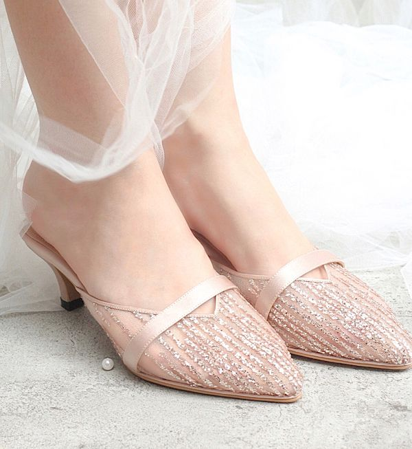 Grace Pink Glitter Shoes