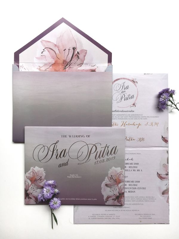 Double Hardcover Invitation - Ira & Putra