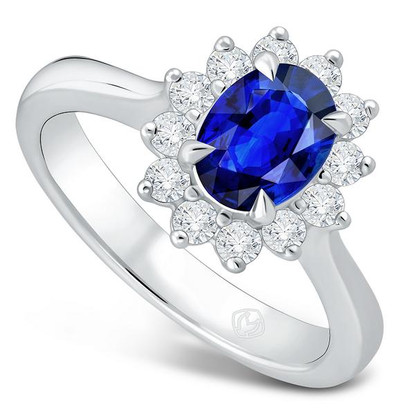 DP IMPERIAL BLUE SAPPHIRE LADIES RING