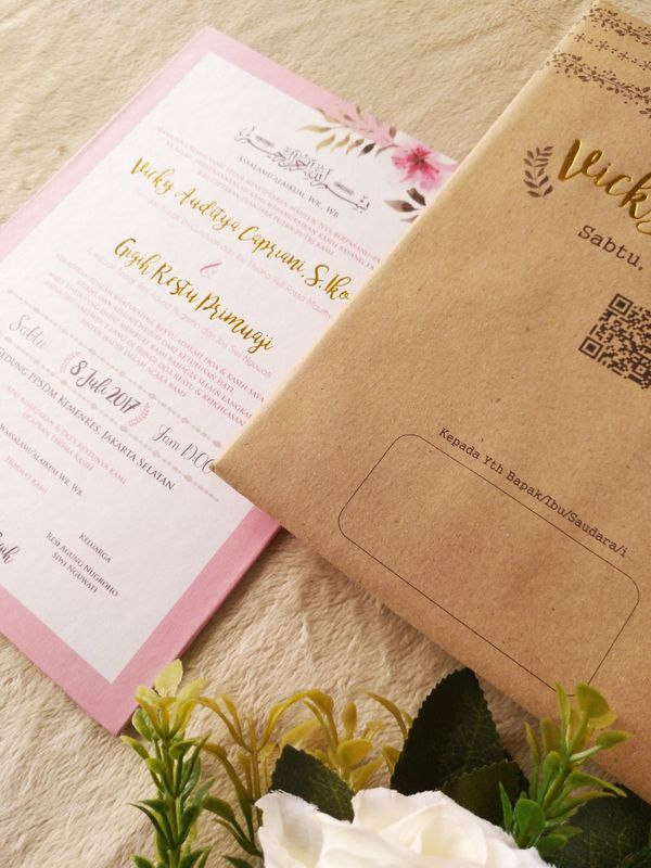 Keeano Project - Invitation Hard Cover Mix Textured Kraft with Envelope
