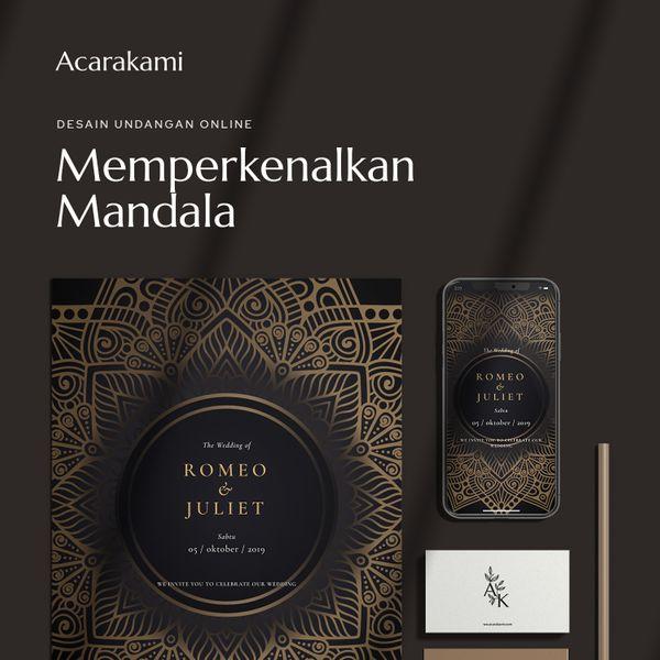 Undangan Online / Undangan Digital / Undangan Website - Desain Mandala