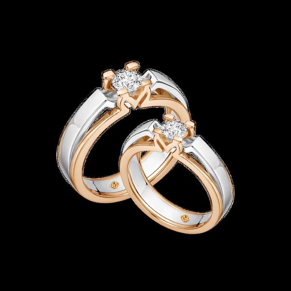 DP MOIRA TWO-TONE DIAMOND WEDDING RING (BRIDE'S RING)