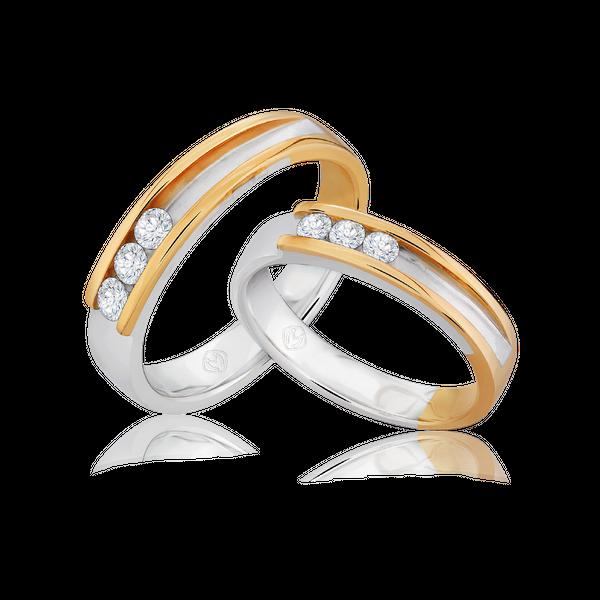 DP TRILOGY COLLECTION DIAMOND WEDDING RING (BRIDE'S RING)