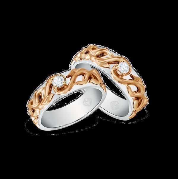 DP TEX SAVERIO FIRE COLLECTION DIAMOND WEDDING RING (GROOM'S RING)