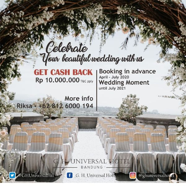 Spesial Cashback Wedding Package