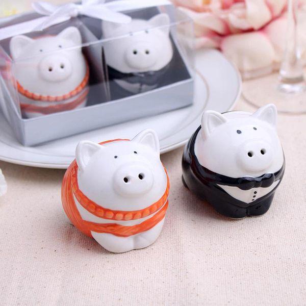 Piggy Salt Pepper (Tempat Lada Garam) Set