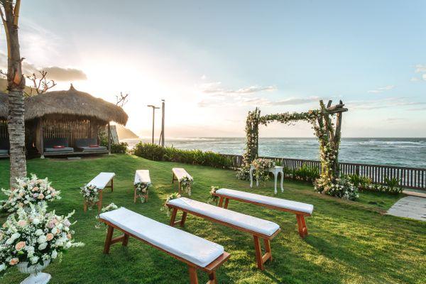 The R Beach Garden Wedding at Roosterfish