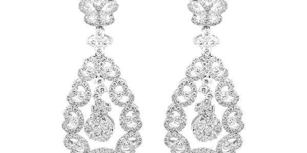 Anting Emas Berlian Wanita DE000254 V&Co Jewellery