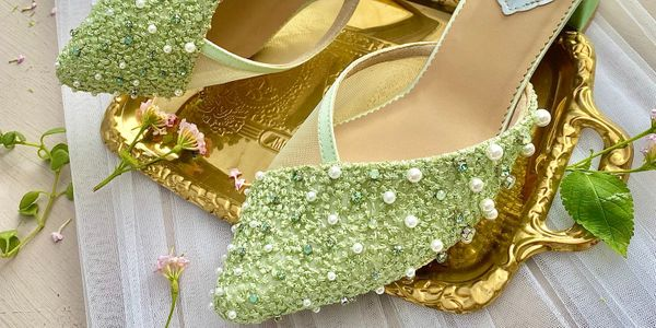 Rae Mint Green Party Shoes Women Block Heels 5cm