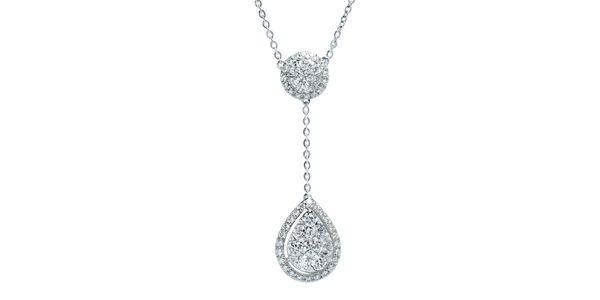 DIAMOND DROP NECKLACE