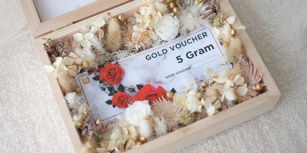 Wedding Hampers Voucher Gramasi Lakuemas 1 - 100 Gram Custom