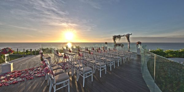 AYANA VILLA WEDDING COMPLETE PACKAGE 50 GUESTS