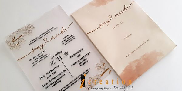 Wedding Invitation Large Acrylic 1