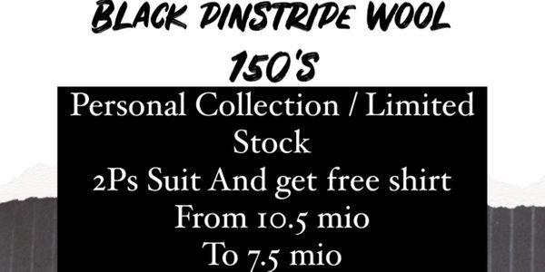 """""""FLASH SALE"""" Suit Package Black Pinstripe Wool Suits"""