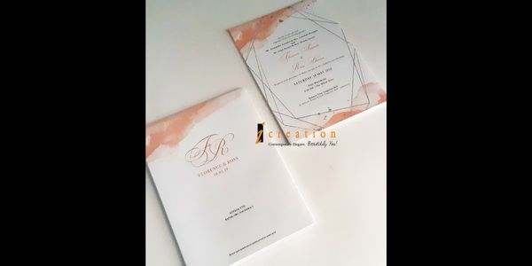 Special Package 14 - 50pcs Simple Wedding Invitation 4