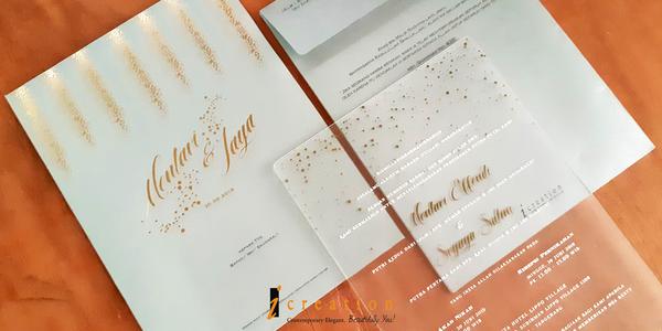 Paket 50pcs Wedding Invitation Large Acrylic 2