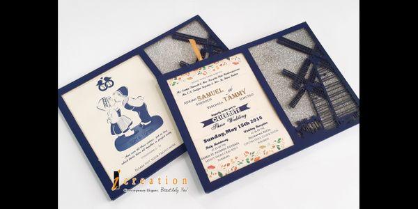 Paket 50pcs Photo Frame Wedding Invitation 2