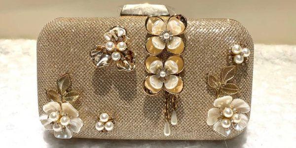 Wedding Clutch Gold