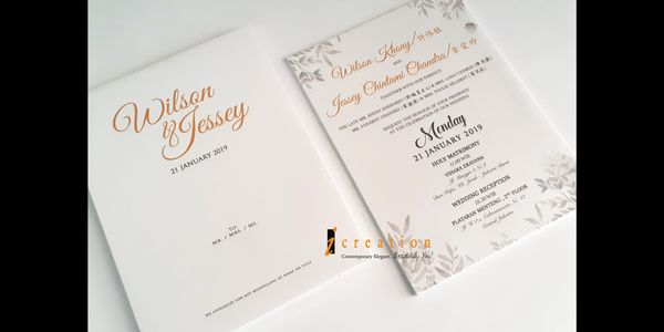 Paket 50pcs Simple Wedding Invitation 9