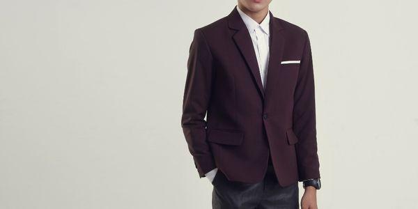 Jas Formal Burgundy Slimfit Modern Style