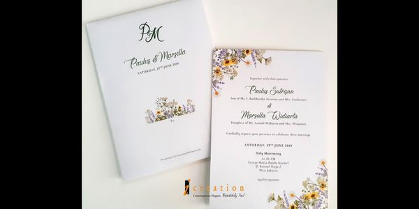 Special Package 5 - 50pcs Wedding Invitation Floral