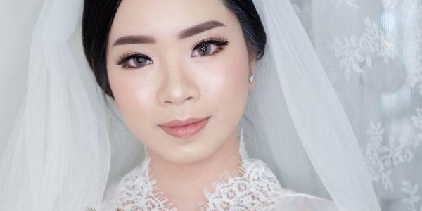 Wedding Makeup Hairdo for Holy Matrimony/Reception (No Retouch)