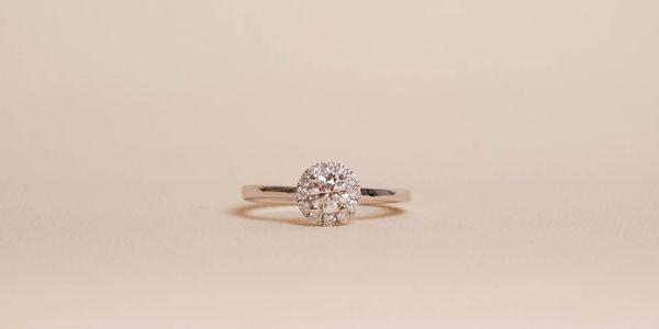Halo 0.3ct Diamond Ring