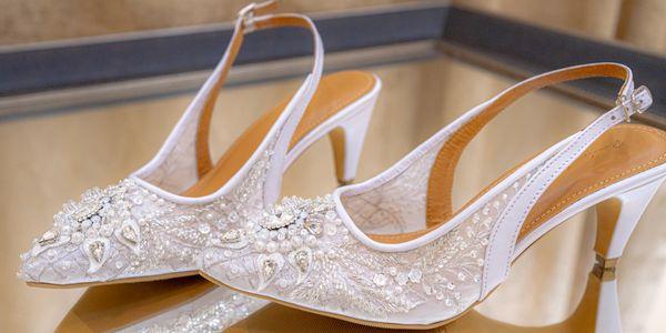 WEDDING SHOES/SEPATU PESTA/BRIDAL SHOES -DELLANIR- BY REMIZY IVONNY