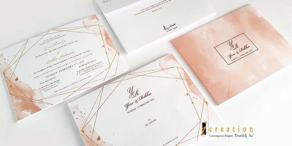 Simple Watercolor theme Invitation