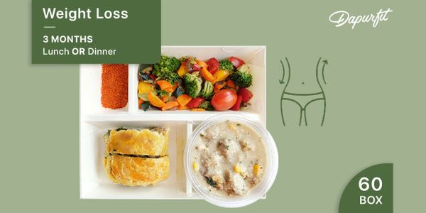 Dapurfit Weight Loss 3 MONTHS Lunch OR Dinner (60box/60days)