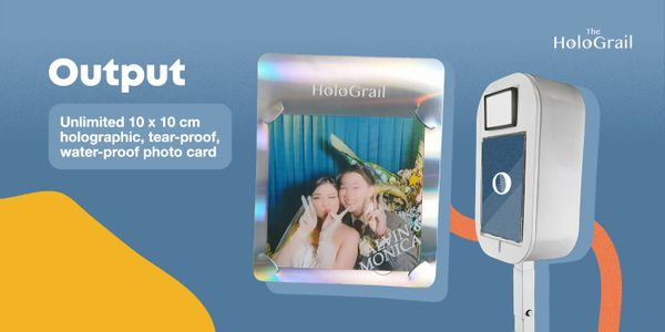 Holographic Photo Booth - 4 hours -  Unlimited Prints