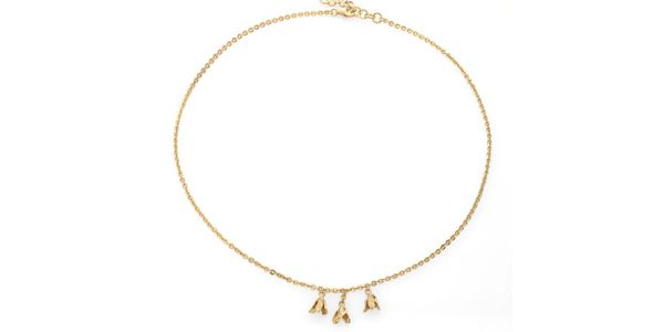 Lily Short Necklace Gold Dip
