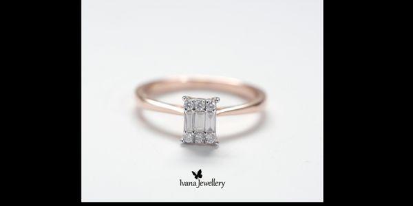 Diamond Ring Baguette Rosegold