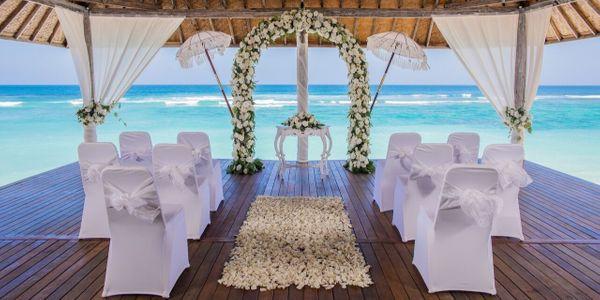 Sun Salute White Wedding